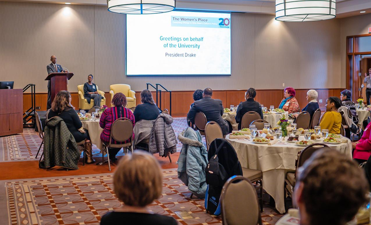 Dr. Drake speaks at the 20th Anniversary Luncheon