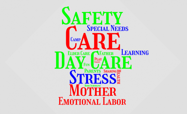 Child and elder care word cloud