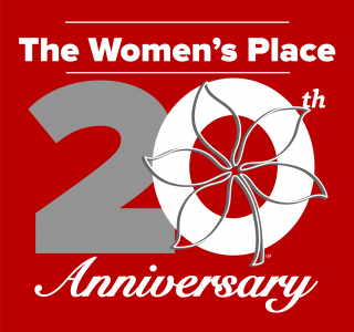 The Women's Place 20th anniversary logo